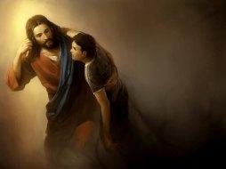 resgate-por-amor-jesus-ajudando-um-menino-1a97d