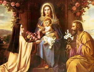 santa teresinha e a sagrada familia