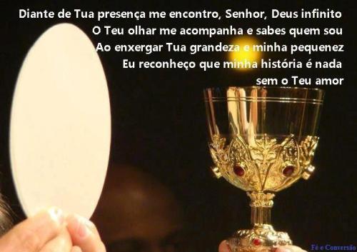 eucaristia sou nada sem teu amor