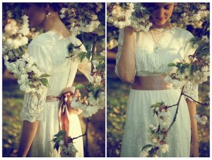 lady-lindo-vestido-branco-faixa-marrom-clara