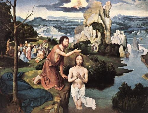 batismo baptism         joaquim patenier  kunsthist.museum vienna