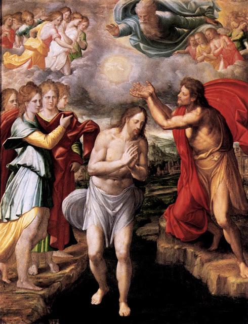 batismo baptism  juan fernandes de navarrete  1568  prado