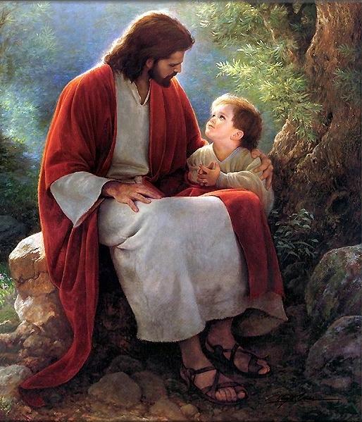 Resultado de imagem para jesus e criança